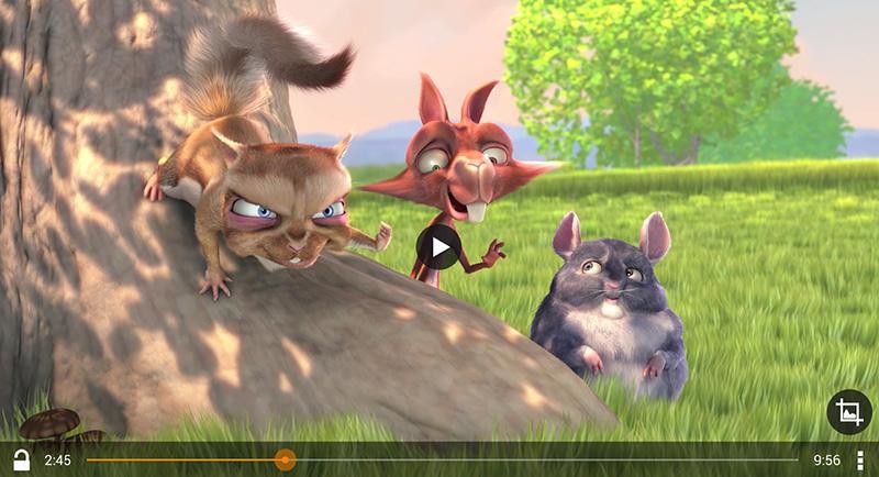 Просмотр мультфильма через VLC плеер